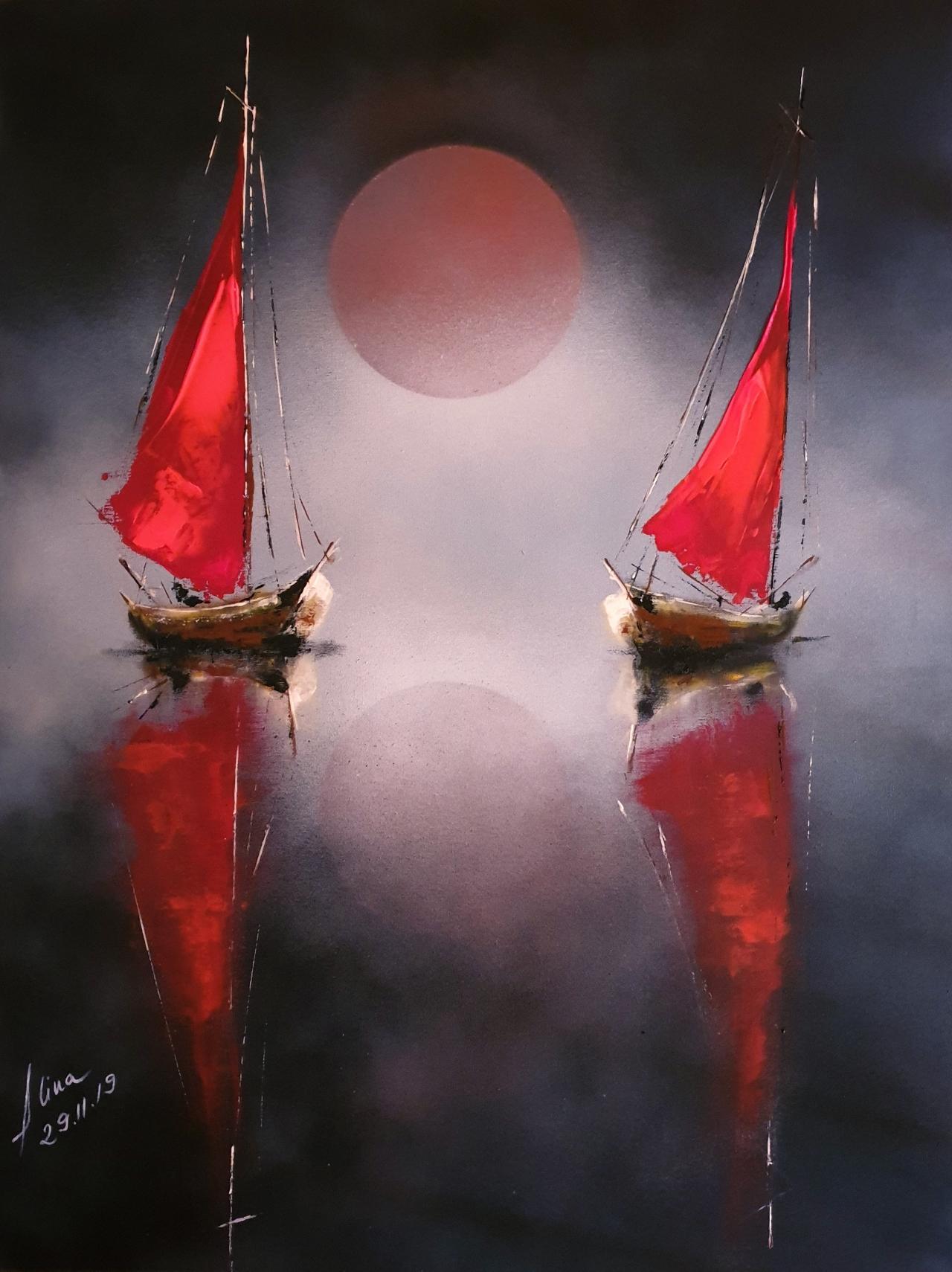 ArteDiAlina.com painting: Mysterious love