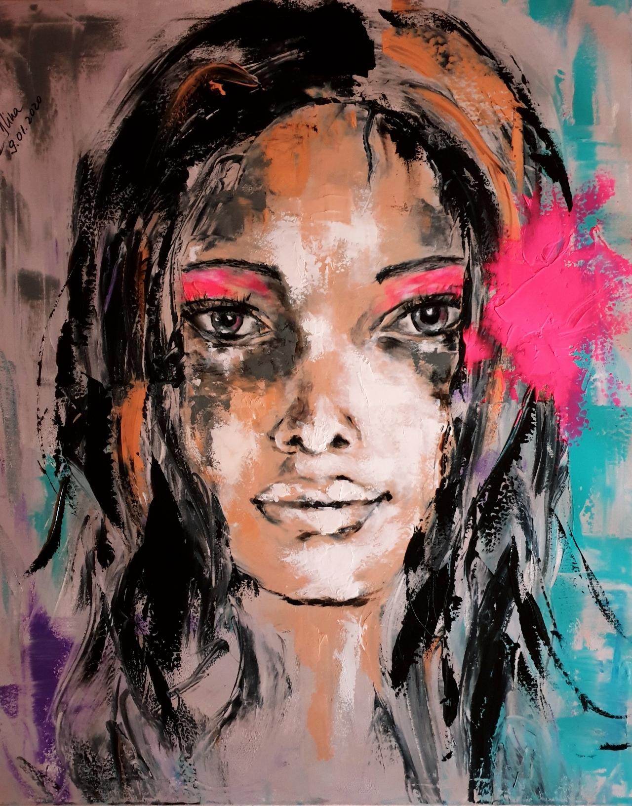 ArteDiAlina.com painting: Pink spot