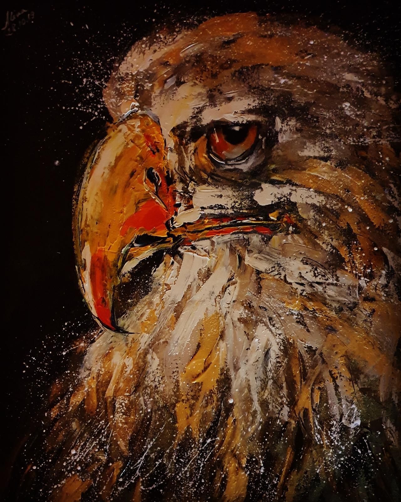 ArteDiAlina.com painting: golden eagle