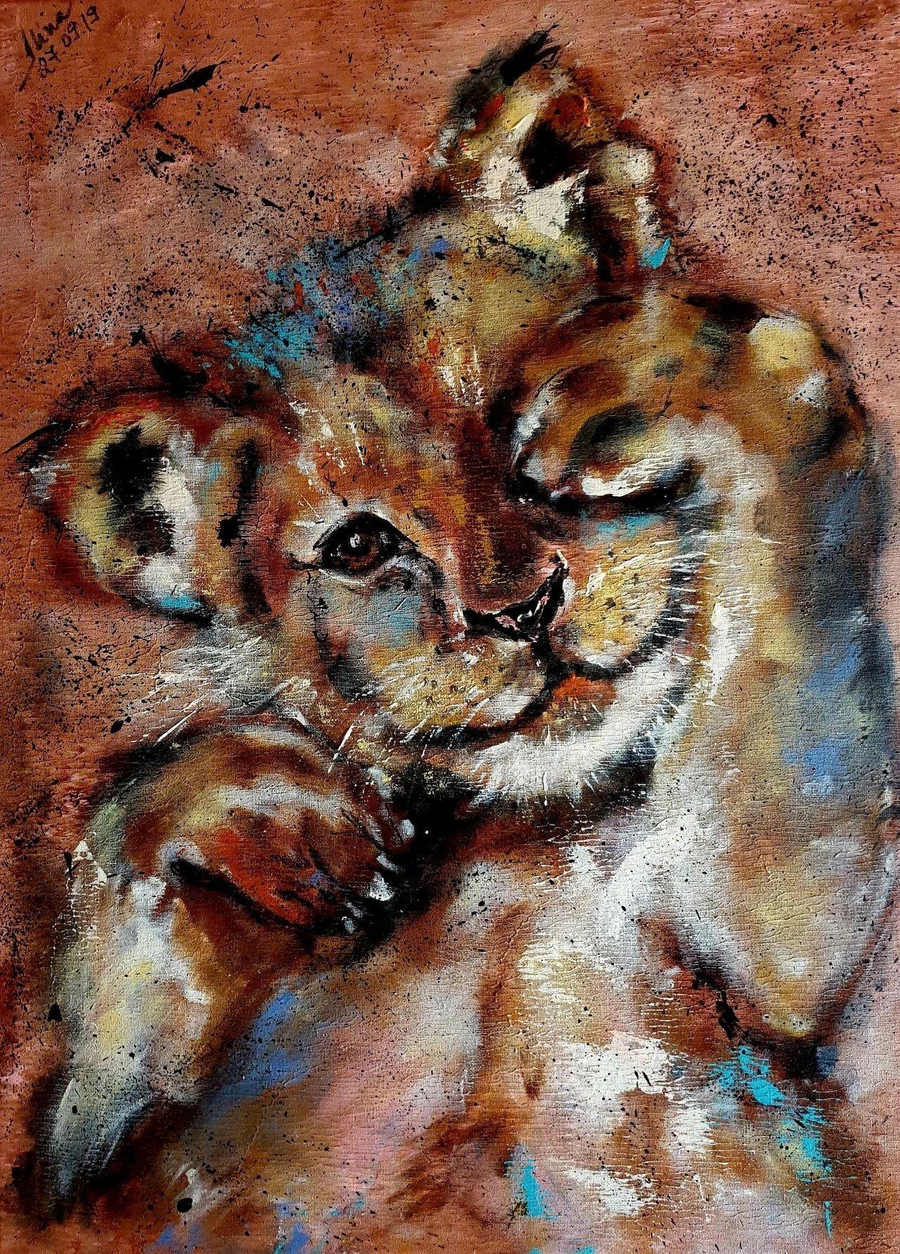 ArteDiAlina.com painting: like a child