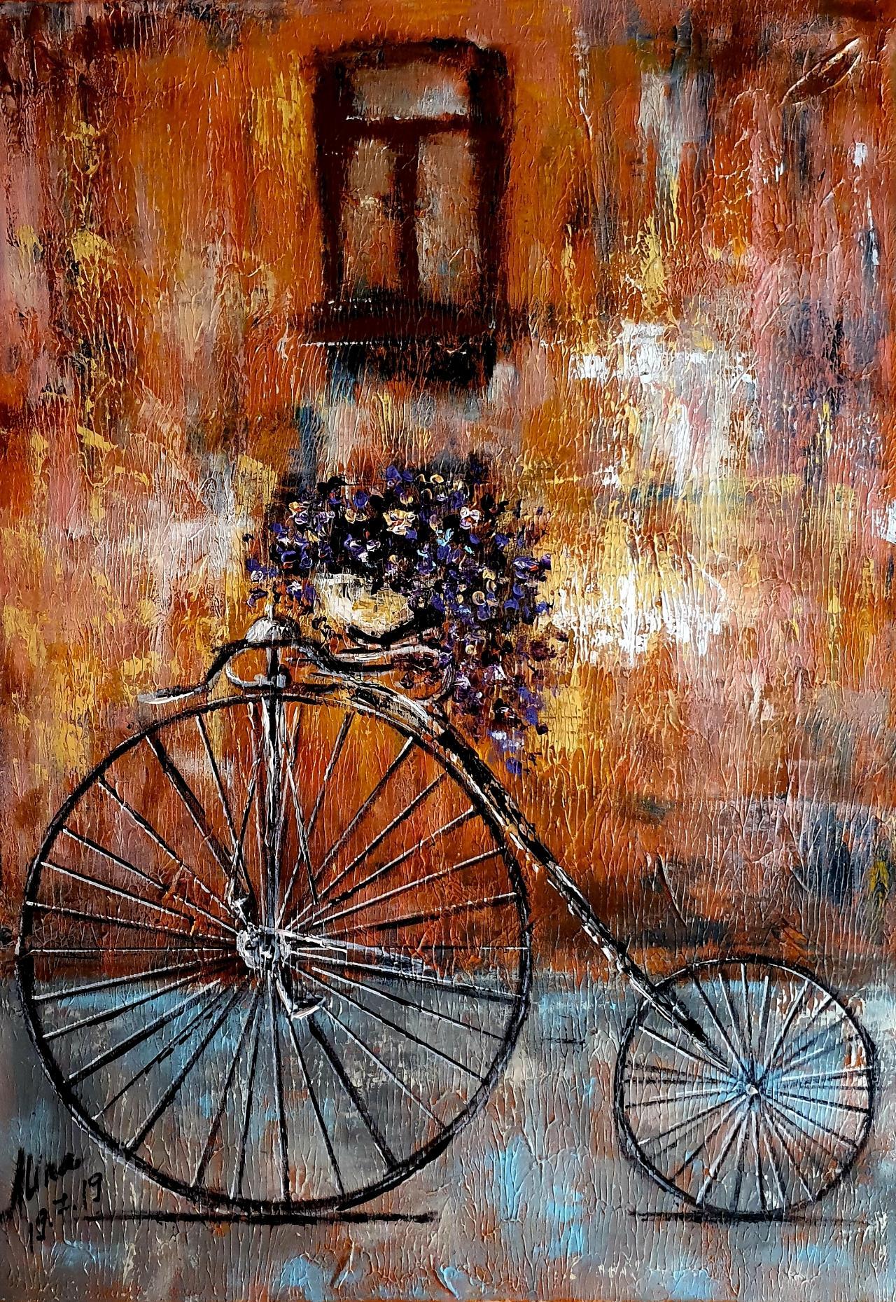 ArteDiAlina.com painting: purple ride