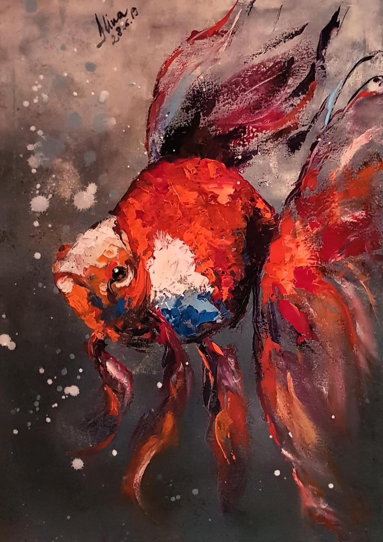 ArteDiAlina.com painting: under water